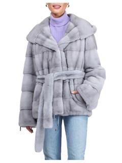 Gorski Woman's Sapphire Mink Fur Jacket
