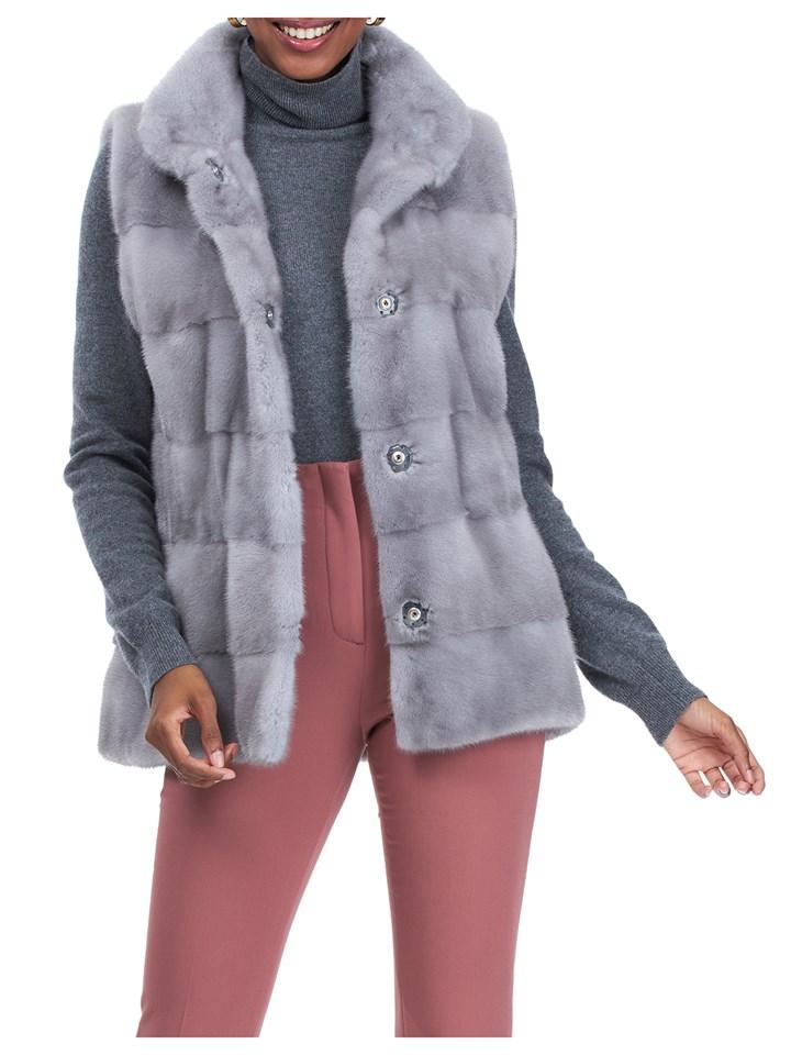 Gorski Woman's Sapphire Mink Fur Vest
