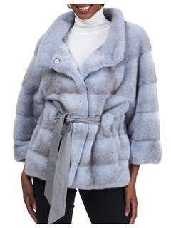 Gorski Woman's Sky-Cross Mink Fur Jacket
