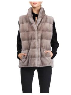 Gorski Woman's Silver-Blue Mink Fur Vest