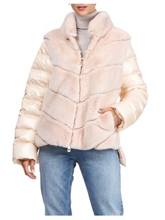 Gorski Woman's Blush Rex Rabbit Fur Jacket