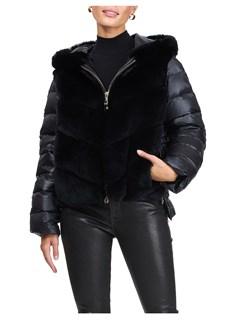 Gorski Woman's Black Rex Rabbit Jacket