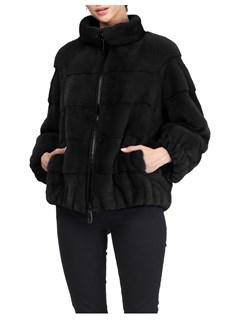 Gorski Woman's Black Mink Fur Jacket