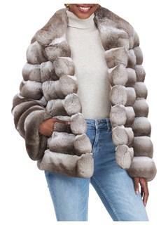 Gorski Woman's Beige Chinchilla Fur Jacket