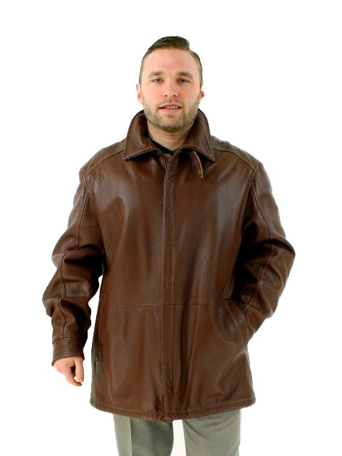 Warm Chocolate Brown Leather Jacket
