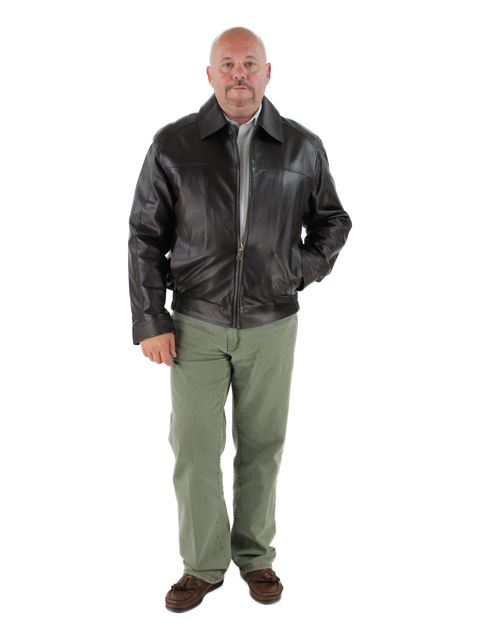 Sidelines to Bar Chocolate Brown Leather Jacket (Zip Out Lining)