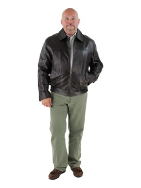 Man's Brown Leather Jacket