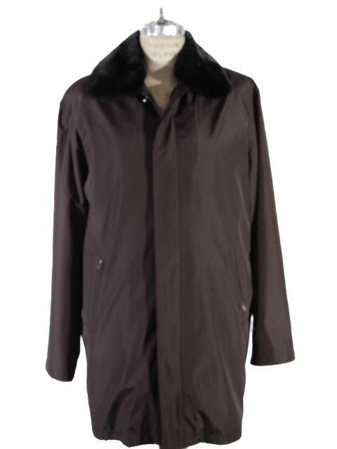 Black Coat with Detachable Mink Collar