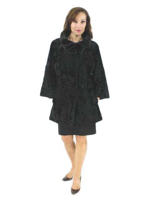 Office to Opera Classically Beautiful Black Lamb Jacket
