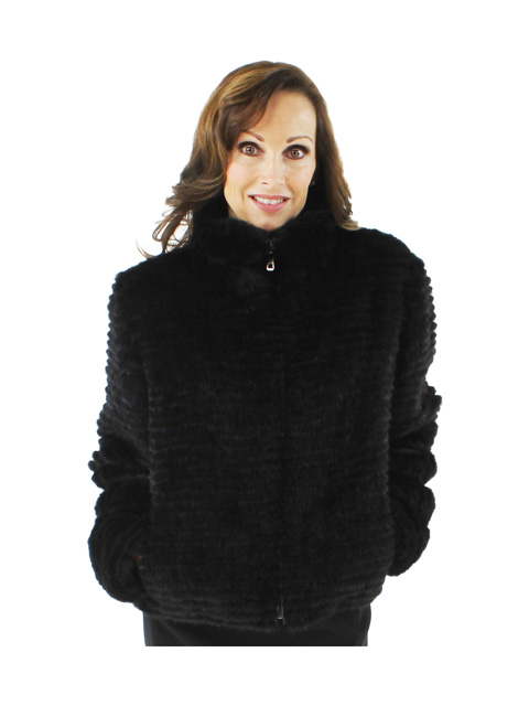 Fun and Flirtacious Groovy Black Mink Jacket