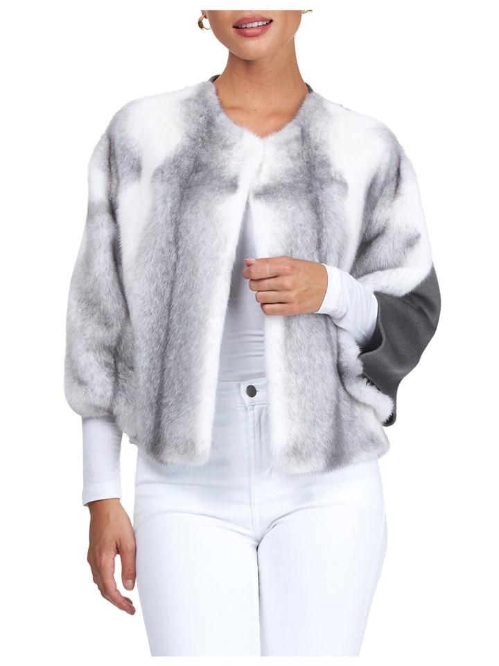 Gorski Woman's Sapphire-Cross Mink Fur Jacket