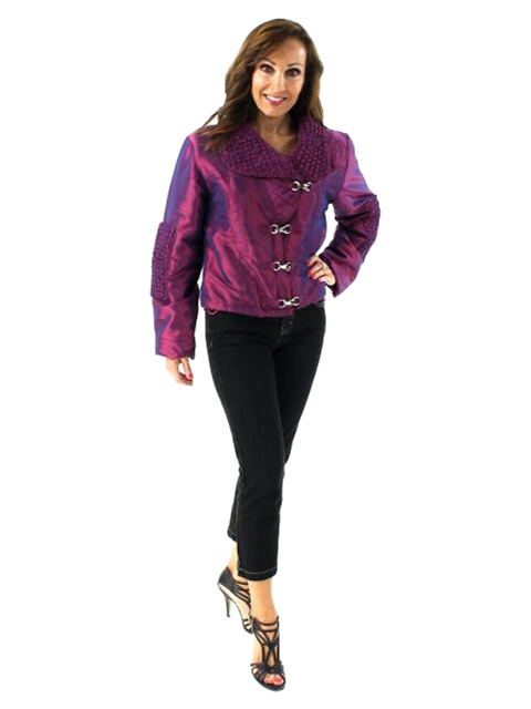 Rock the Runway Raspberry with Hints of Purple Fabric Jacket