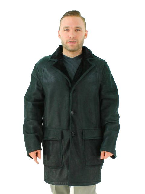 Wear Anywhere Handsome Black Nero Shearling Lamb Jacket