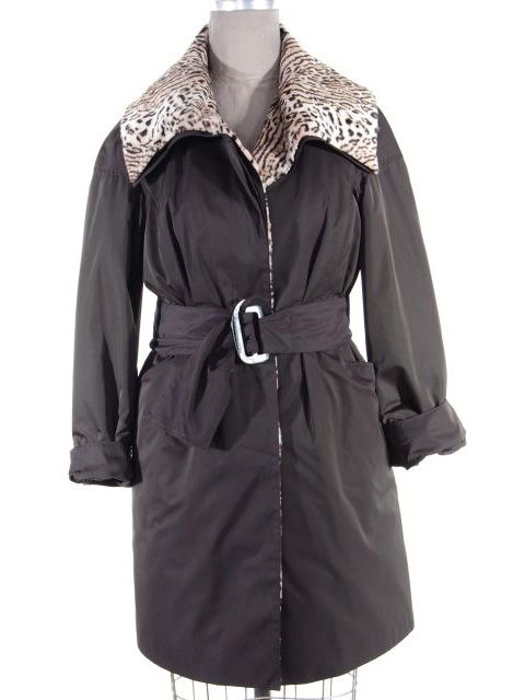 Black Belted Rain Fabric Stroller (Rabbit Collar and Lining)