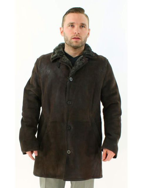 Deep Dark Chocolate Brown Warm Shearling Lamb Jacket