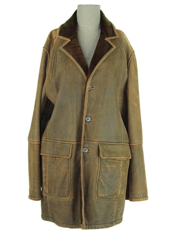 Rugged Wind Cutting Marrone Shearling Jacket
