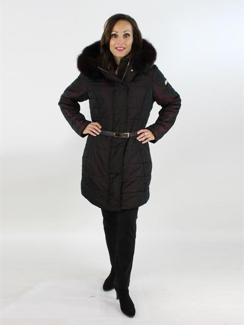 Gorski Woman's Vino Fabric and Fox Fur Jacket