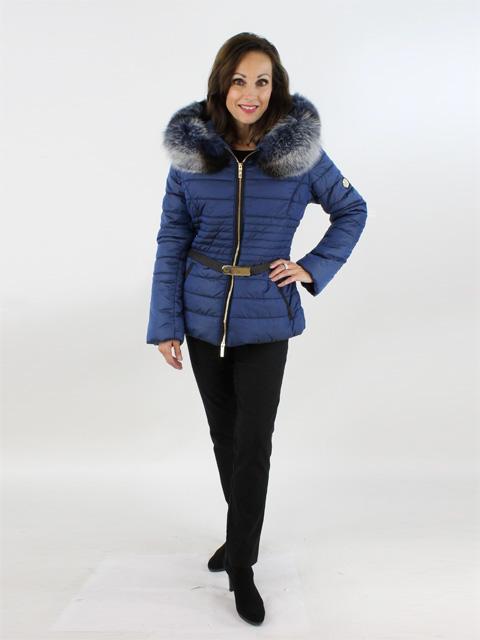 Blue Sky Leopard Fabric and Fox Jacket