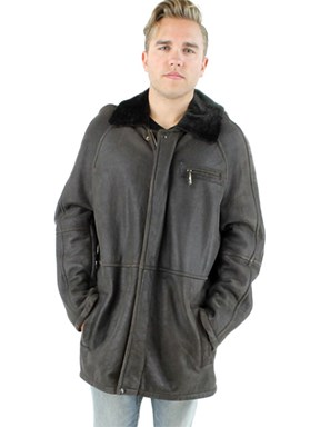 NEW Man'sTestomoro Shearling Lamb Jacket