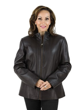 Woman's Brown Leather Jacket