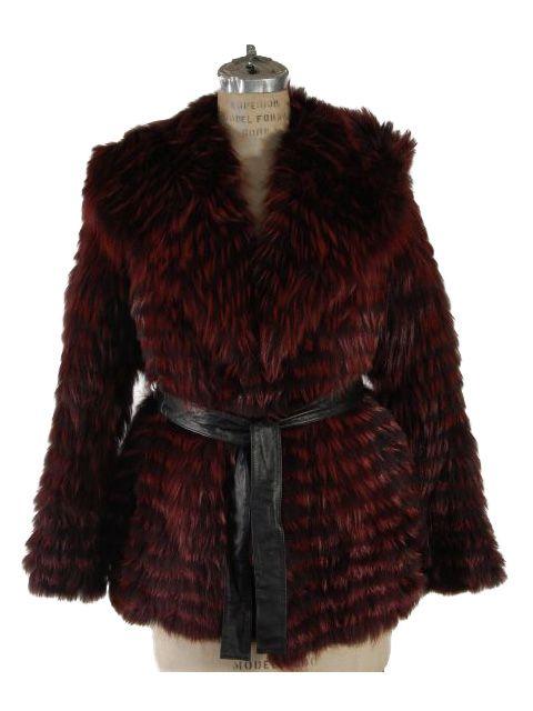 Wonderful Dark Raspberry Hooded Fox Stroller with Leather Belt