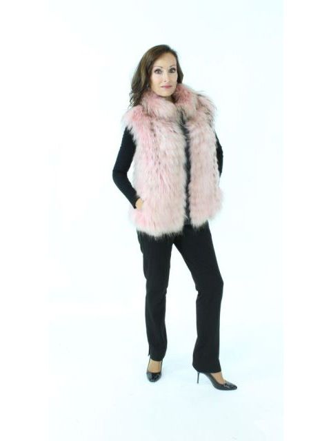 Soft Pink Finn Raccoon Vest.  Wear with Everything