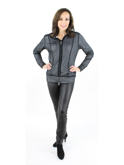 Silver And Black Mesh Jacket