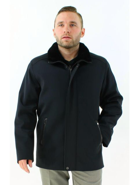 Superior Wear Everywhere Handsome Black Cloth Shearling Jacket