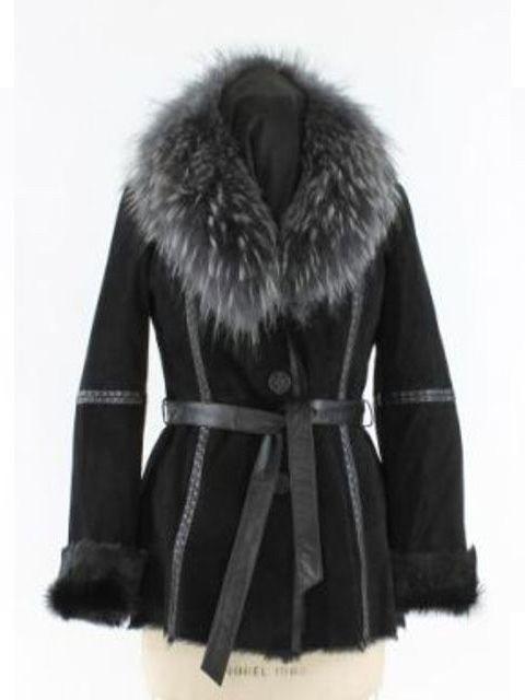 Beautiful Black Goat Suede Jacket (Finn Raccoon Collar)