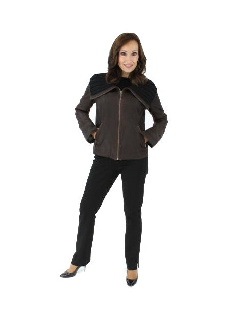 Classic and Stylish Dark Chocolate Brown Leather Jacket