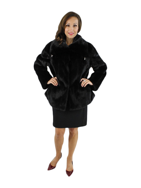 Black Mink Fur Jacket