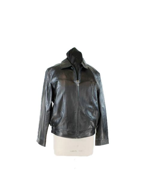 Boardroom to Bar Classic Black Leather Jacket with Zip Out Lining