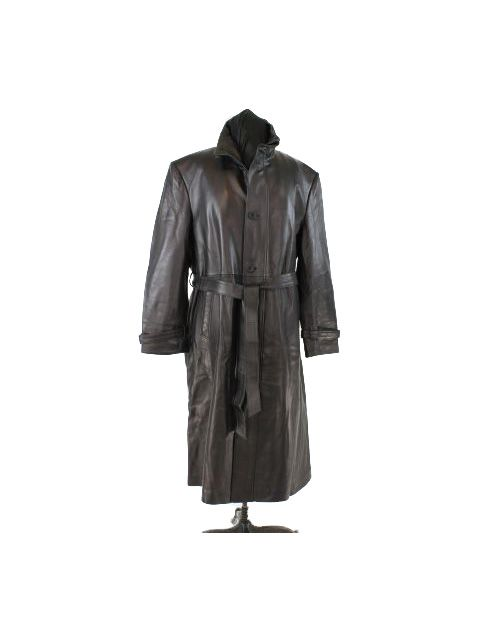 Handsome Black Leather Coat with Black Zip Out Lining