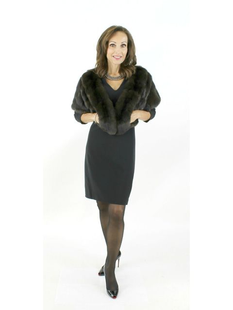 When Only the Very Best Will Do LBD to Jeans Natural Sable Shawl
