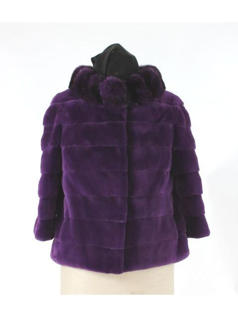 Sheared Mink Jacket with Matching Chinchilla Collar