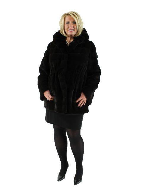 Ruby Brown Mink Sheared Mink Stroller