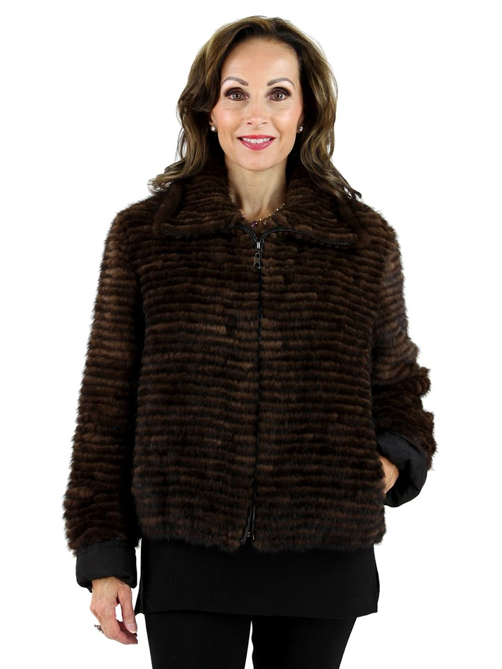Scanbrown Mink Fur Jacket