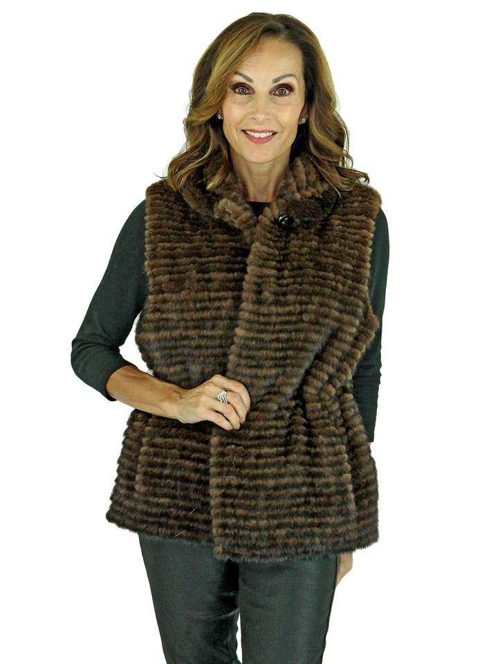 Woman's Gorski Scanbrown Mink Fur Vest
