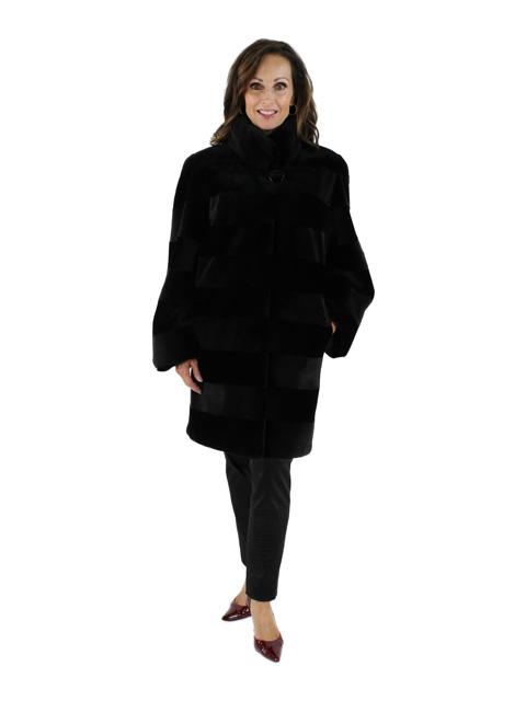 Black Sheared Mink Stroller