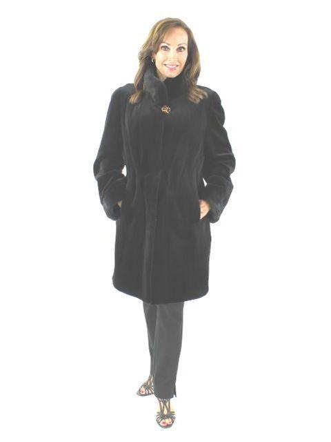Wear it Everywhere in all Kinds of Weather Black Sheared Mink Reversible Stroller