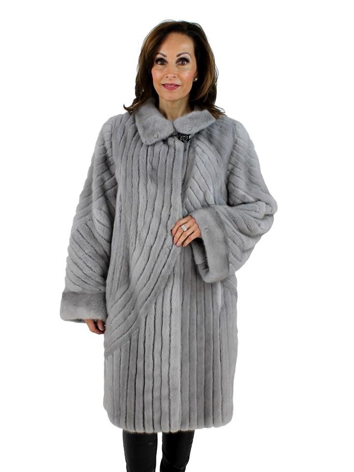 Gorski Woman's Sapphire Mink Fur Stroller