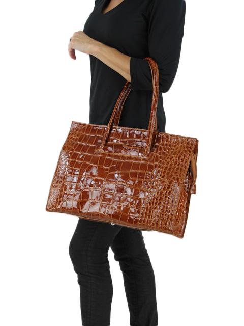 Peanut Brown Calf Hide Handbag