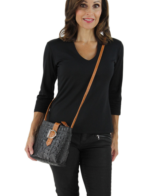 Black and Tan Calf Hide Handbag