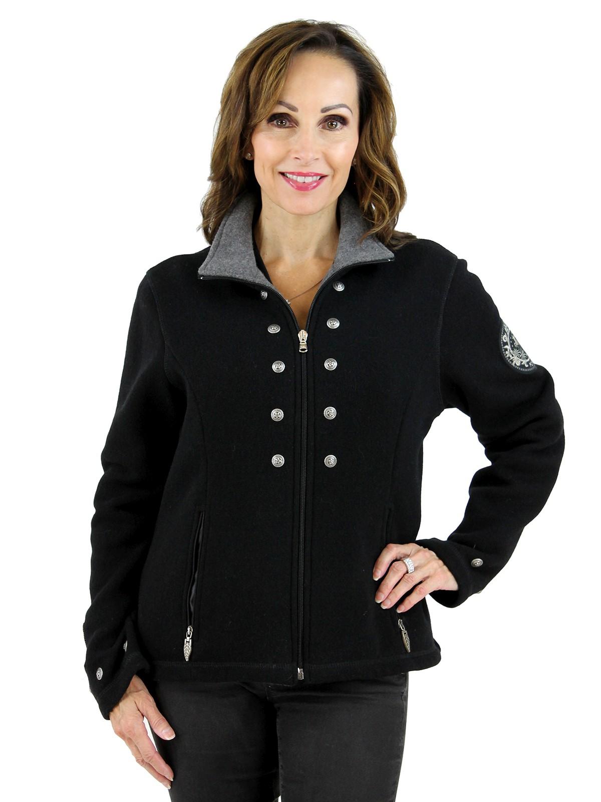 Black Techno Wool Jacket