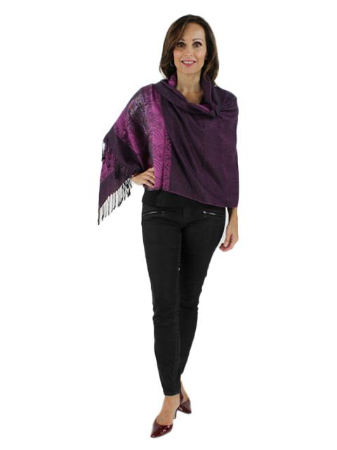 Purple Woven Pashmina