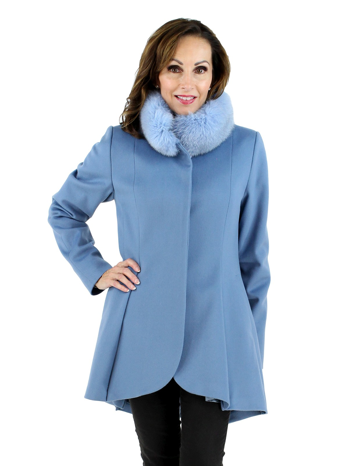 Woman's Light Blue Wool Stroller