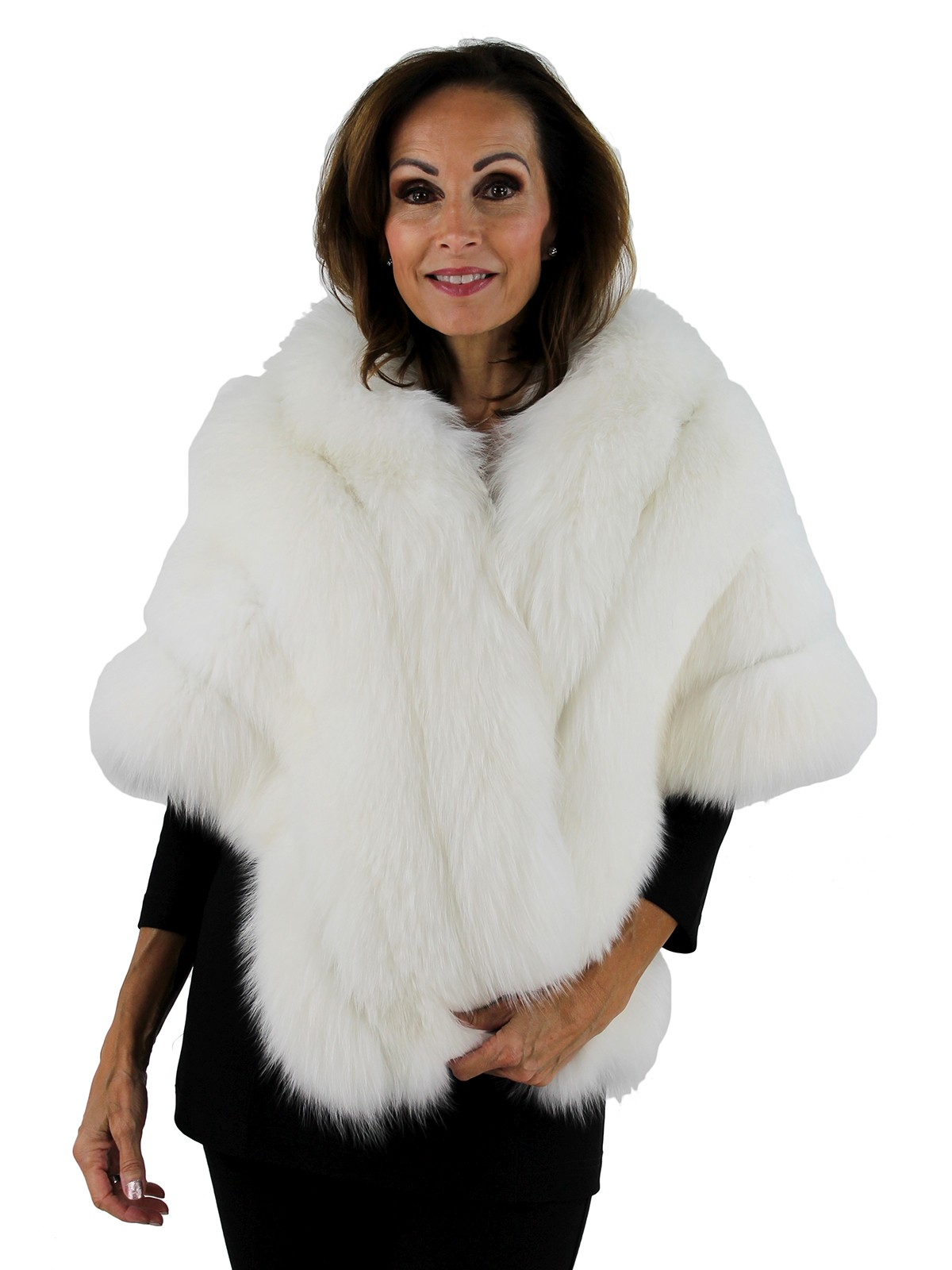 White Fur Stole >> White Fox Fur Stole By Gorski Women S One Size Fits All Day Furs
