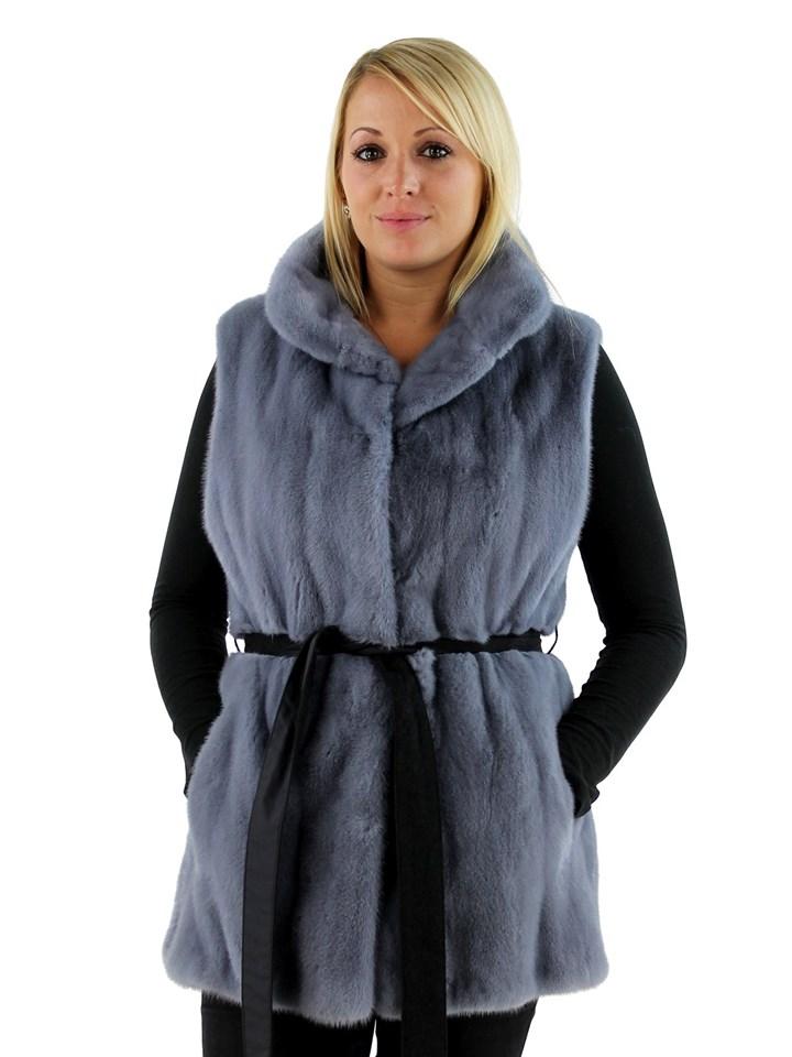 Gorski Woman's Powder Mink Fur Vest