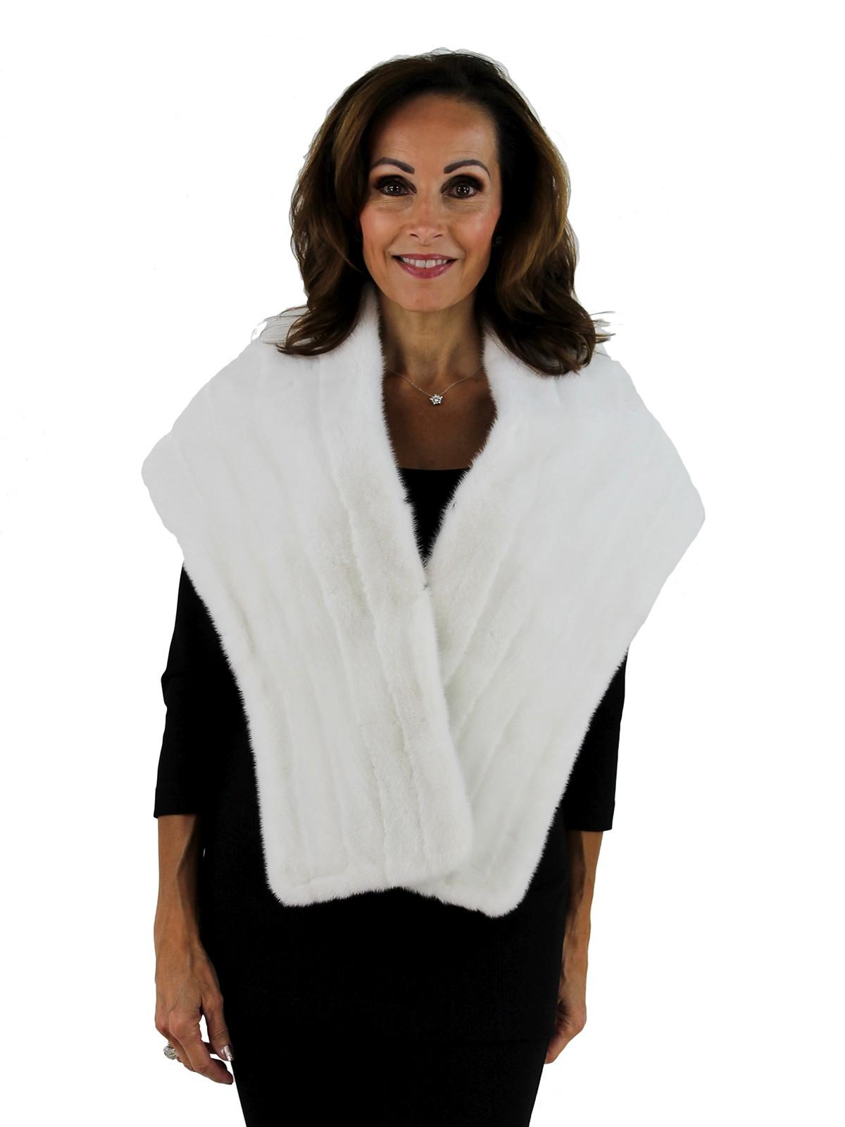 Gorski Woman's  White Mink Fur Stole