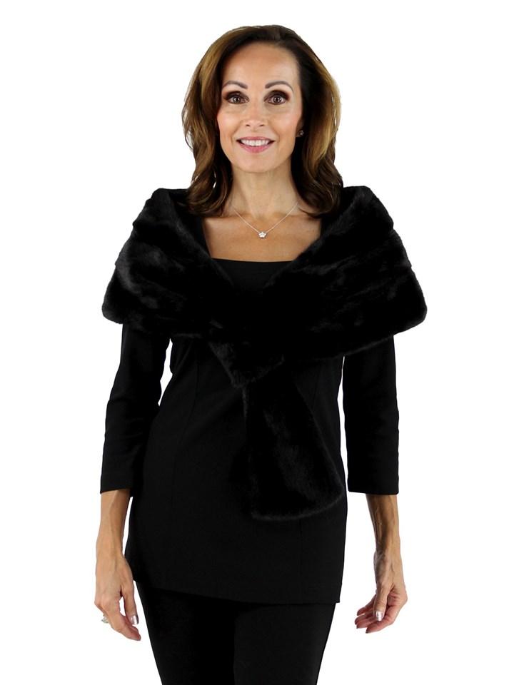 Gorski Woman's Black Mink Fur Stole